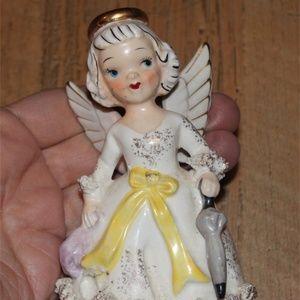 Vintage August Birthday Angel Figurine Wings